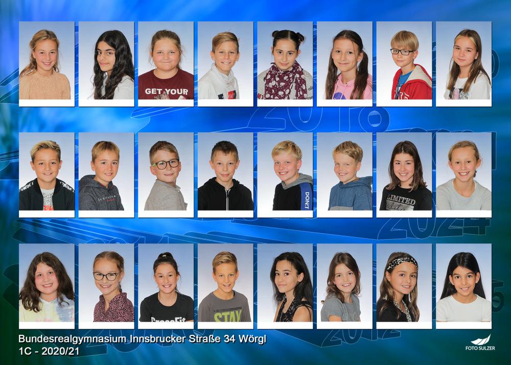 Klassenfoto 1C, 2020/21 | BRG Wörgl