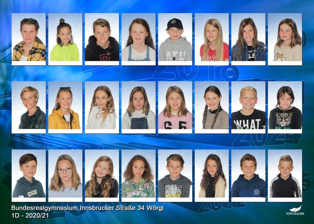 Klassenfoto 1D, 2020/21 | BRG Wörgl