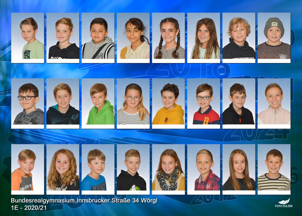 Klassenfoto 1E, 2020/21 | BRG Wörgl