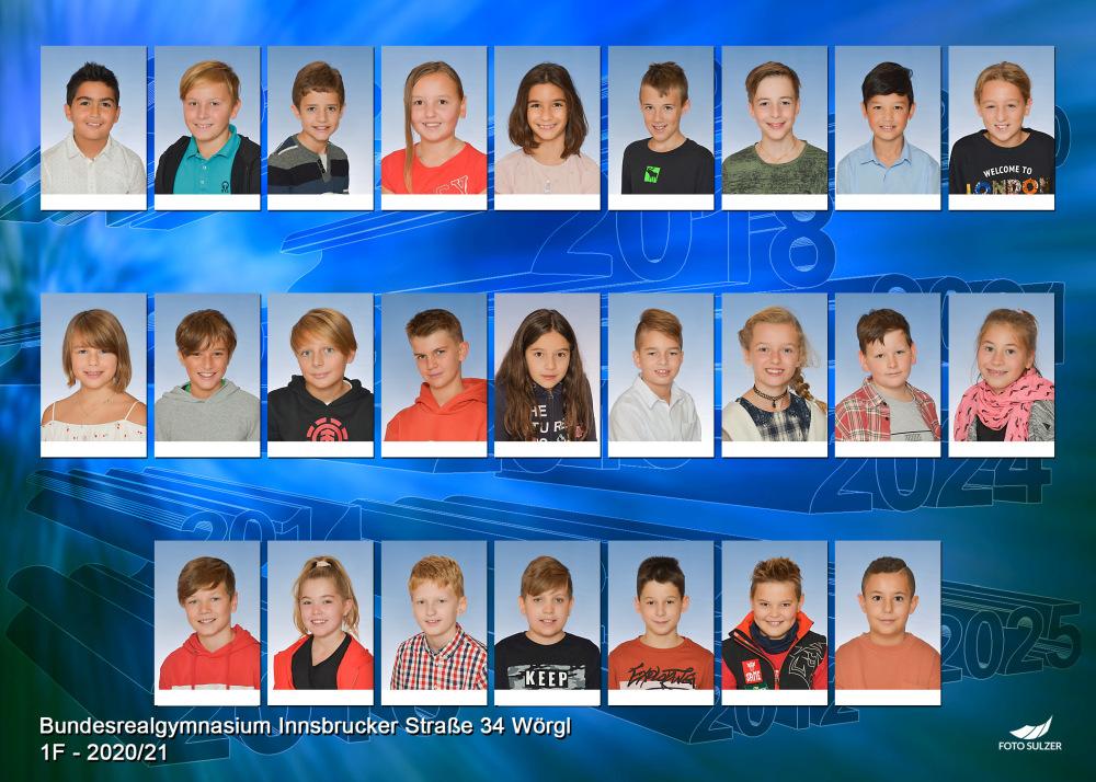 Klassenfoto 1F, 2020/21 | BRG Wörgl