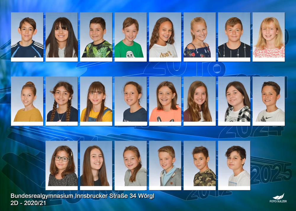 Klassenfoto 2D, 2020/21 | BRG Wörgl
