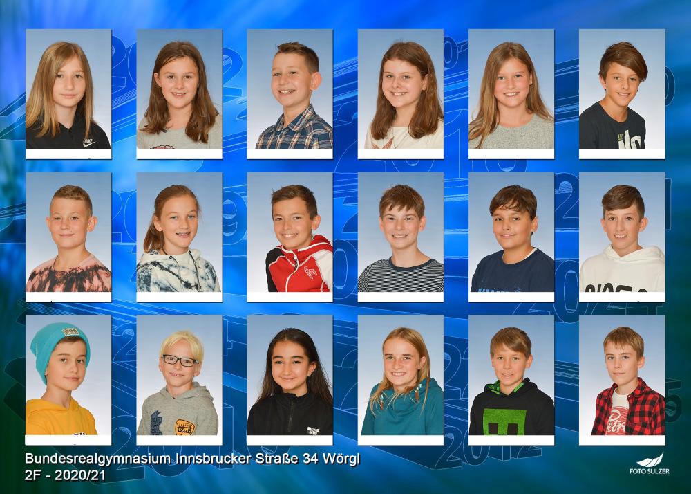 Klassenfoto 2F, 2020/21 | BRG Wörgl