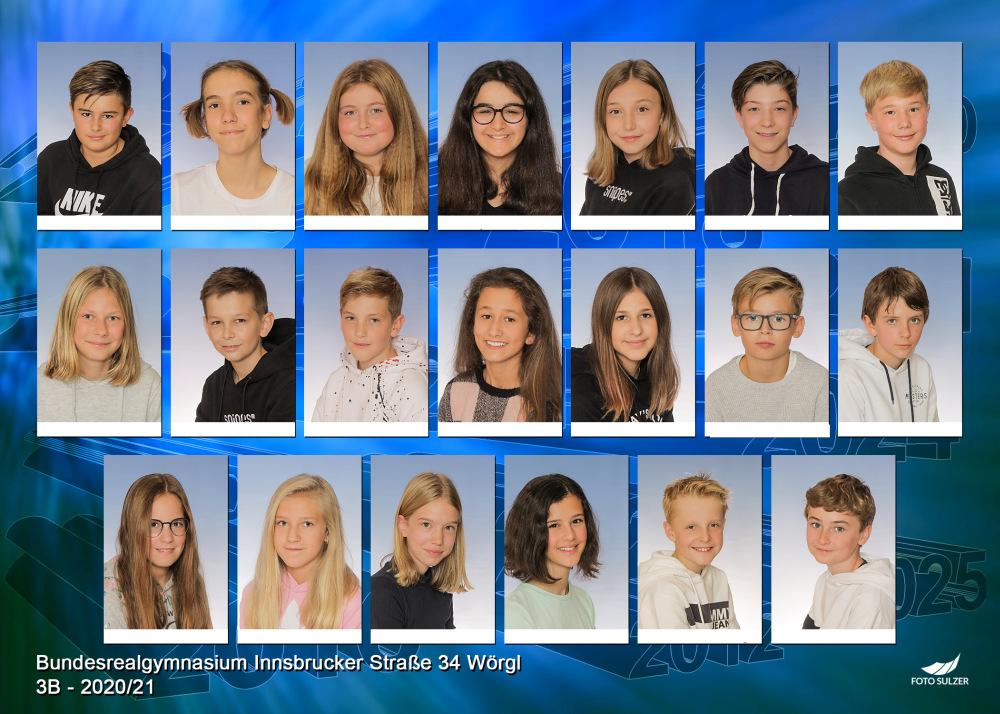 Klassenfoto 3B, 2020/21 | BRG Wörgl