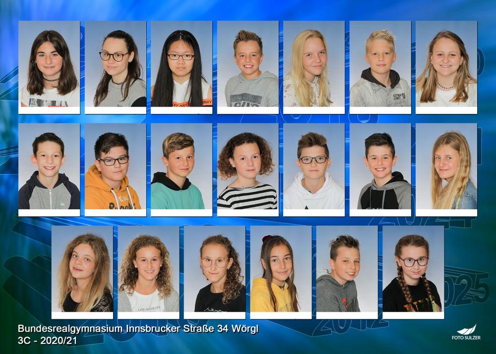 Klassenfoto 3C, 2020/21 | BRG Wörgl