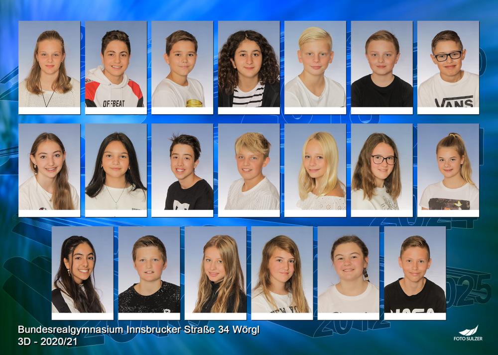 Klassenfoto 3D, 2020/21 | BRG Wörgl