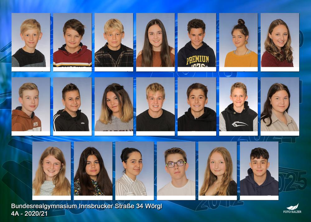 Klassenfoto 4A, 2020/21 | BRG Wörgl