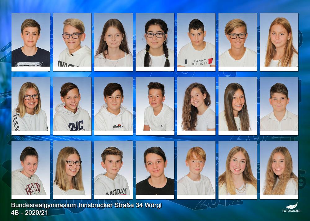 Klassenfoto 4B, 2020/21 | BRG Wörgl