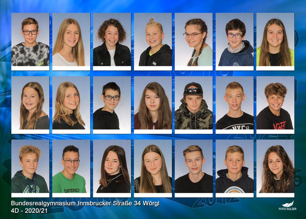 Klassenfoto 4D, 2020/21 | BRG Wörgl