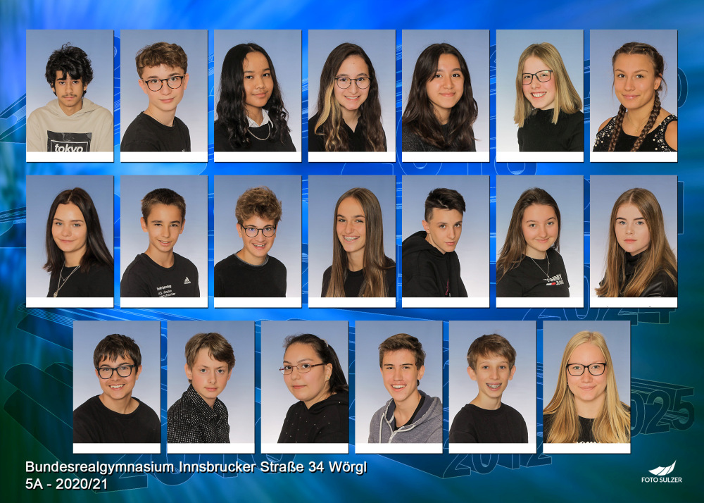 Klassenfoto 5A, 2020/21 | BRG Wörgl