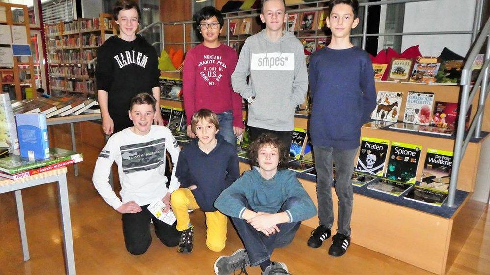 Schulbibliothek, Team BRG 3B: Jeremy, Pascal, Adrian, Daniel, Florian, Elias, Gabriel   BRG Wörgl