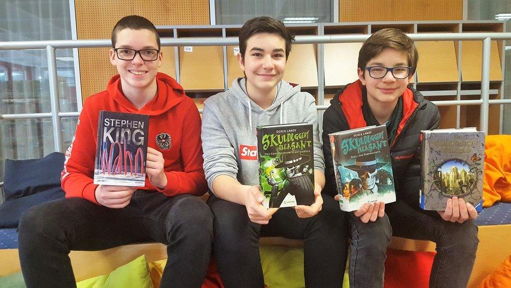 Schulbibliothek, Team BRG 4A: Alen, Alexander, Lorenz   BRG Wörgl