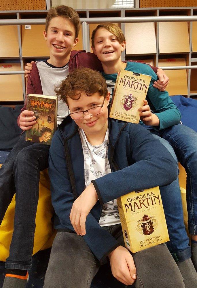 Schulbibliothek, Team BRG 4B: Adrian, Maxi, Josef   BRG Wörgl
